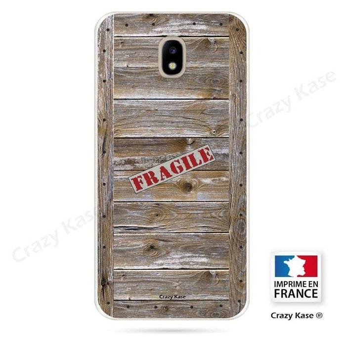 Coque pour Samsung Galaxy J5 (2017) souple effet Caisse en bois