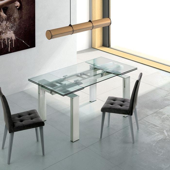 Table En Verre Salle A Manger.Table De Salle A Manger A Rallonge Extensible En Verre Suma L 90x140 210cm Par Zendart Selection