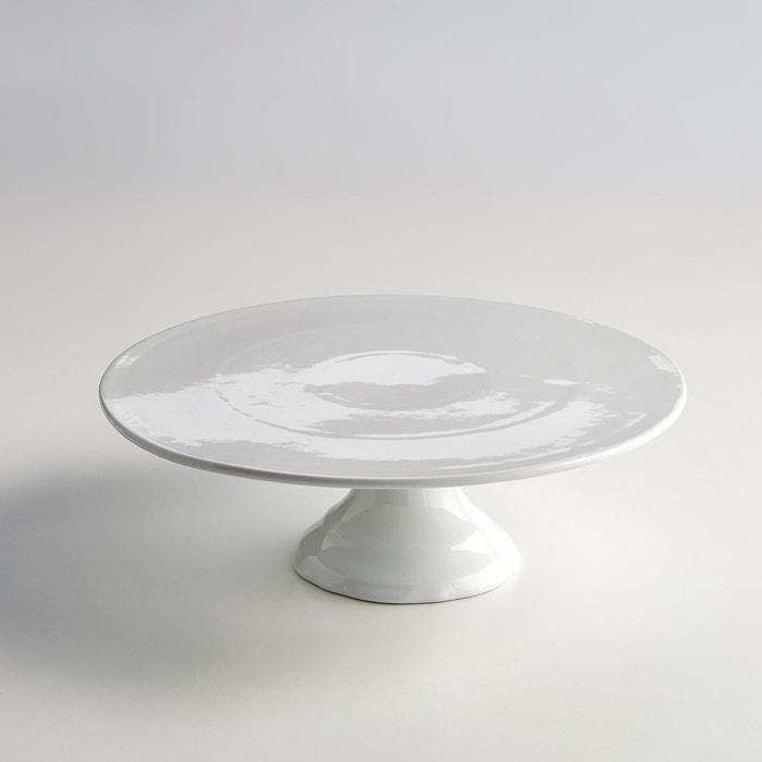 Serviteur à gâteaux sur pied en porcelaine blanc La Redoute ...