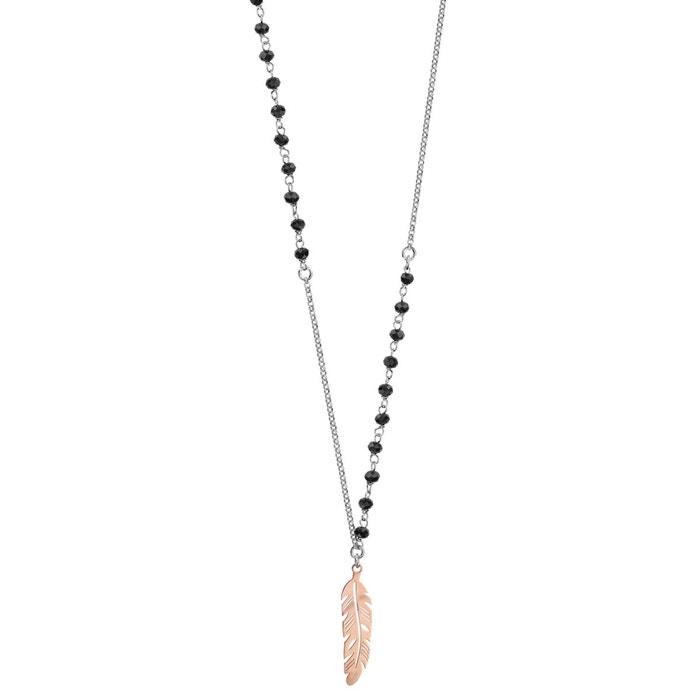 Collier longueur réglable: 62 à 65 cm plume perles noires dorure rose argent 925 couleur unique So Chic Bijoux   La Redoute Acheter Des Biens Pas Cher Jeu Finishline XsXkWWM