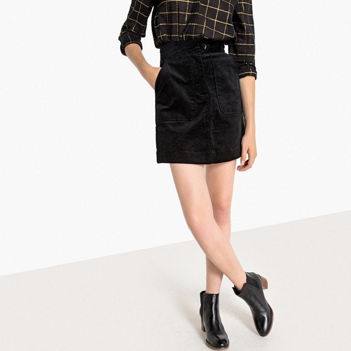 High Waisted Corduroy Mini Skirt  La Redoute Collections image 0