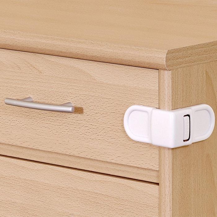 reer la s curit pour placards et tiroirs s curit enfant verrou de blanc reer la redoute. Black Bedroom Furniture Sets. Home Design Ideas