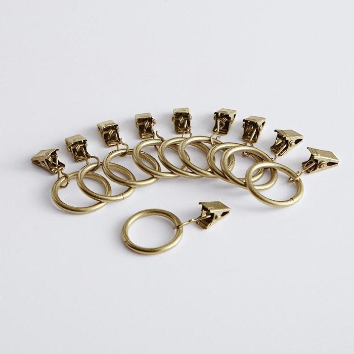 Confezione da 10 anelli con pinze ONEGA per tenda  La Redoute Interieurs image 0