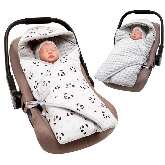 Couverture enveloppante réversible et multi-usage pour siège auto panda  Sevira Kids   La Redoute 32129ef889f