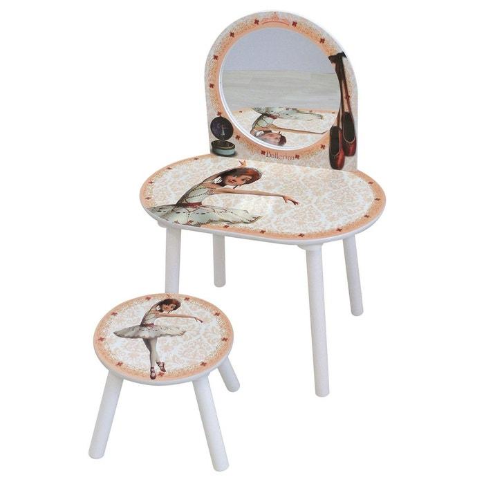coiffeuse ballerina avec tabouret blanc cass framboisine et compagnie la redoute. Black Bedroom Furniture Sets. Home Design Ideas