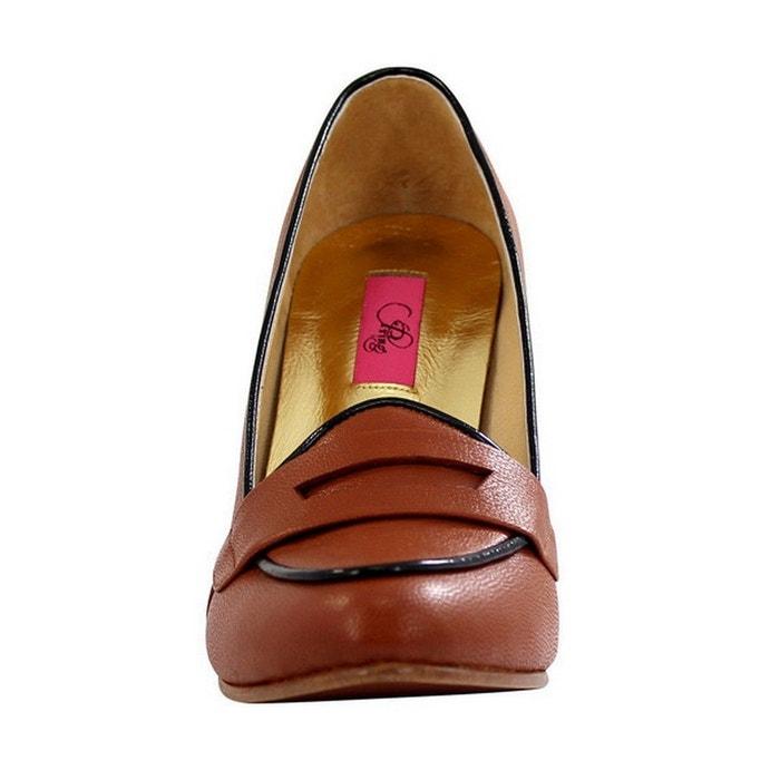 Chaussure Chaussure Chaussure femme en cuir pilgrim marron Pring Paris 428177