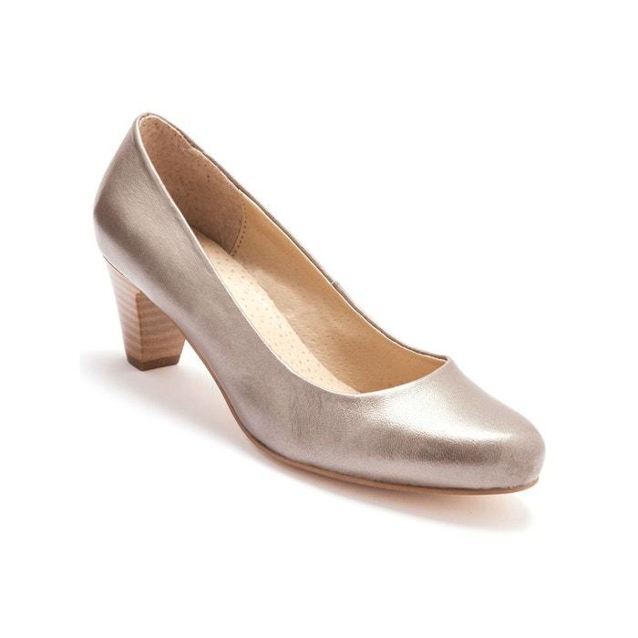 Escarpins en cuir largeur confort   Secrets De Mode   La Redoute
