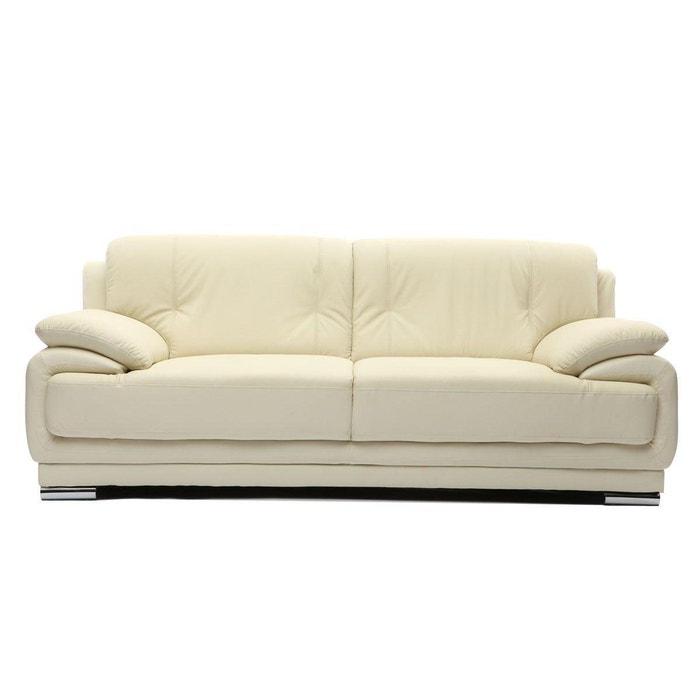 canap cuir design 3 places tamara cuir de vache miliboo la redoute. Black Bedroom Furniture Sets. Home Design Ideas