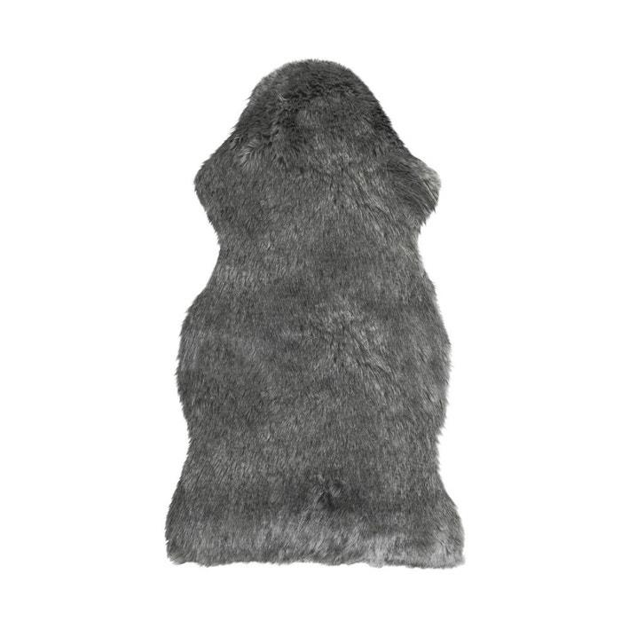 Tapis de sol fausse fourrure 55x90 cm gris loup gris Decoratie | La ...