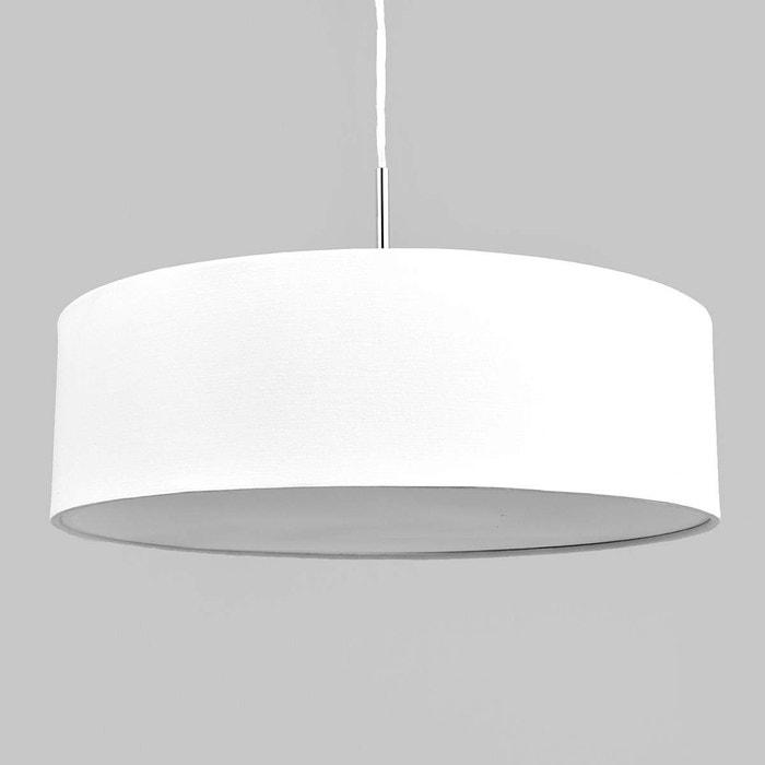 suspension en tissu sebatin blanc blanc nickel mat lampenwelt la redoute. Black Bedroom Furniture Sets. Home Design Ideas
