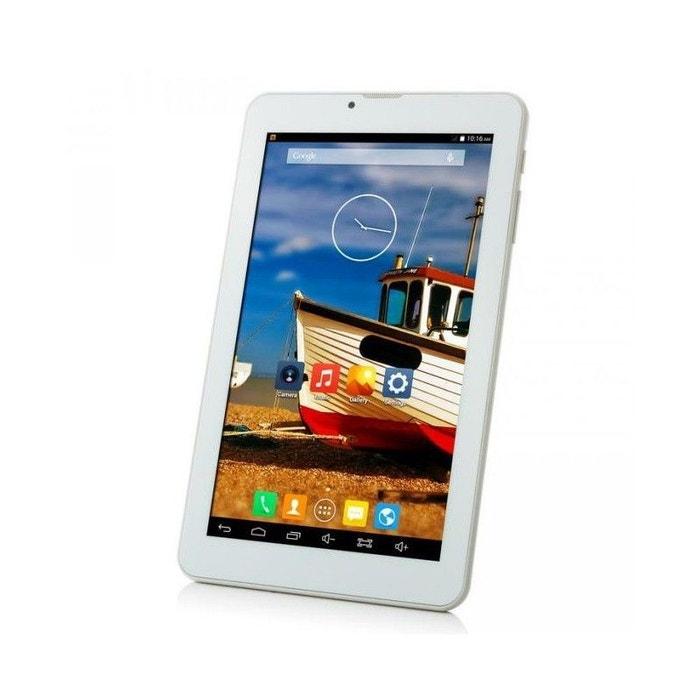 tablette 3g 7 pouces android kitkat quad core 8 go dual sim blanc blanc yonis la redoute. Black Bedroom Furniture Sets. Home Design Ideas