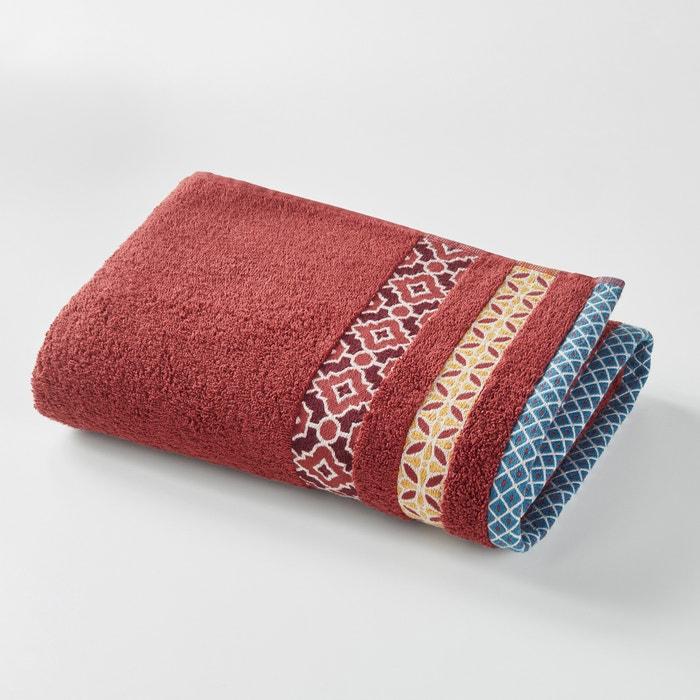 Evora Cotton Bath Sheet with Coloured Border.  La Redoute Interieurs image 0
