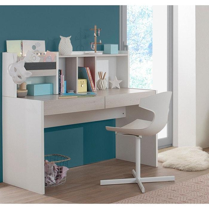 bureau enfant blanc effet pin blanchi bc5007 bois naturel. Black Bedroom Furniture Sets. Home Design Ideas