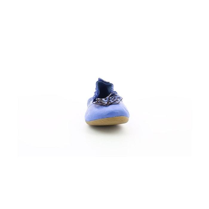 Ballerines cuir femme rommy bleu Kickers