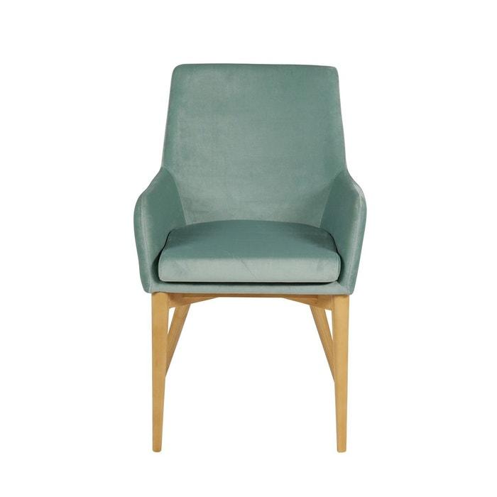 fauteuil velours vert d 39 eau kiwi vert inwood la redoute. Black Bedroom Furniture Sets. Home Design Ideas