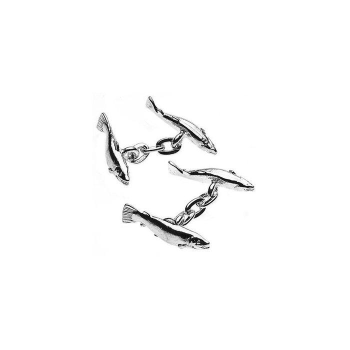 Boutons de manchette, christopher simpson, salmon, sport gris Christopher Simpson | La Redoute
