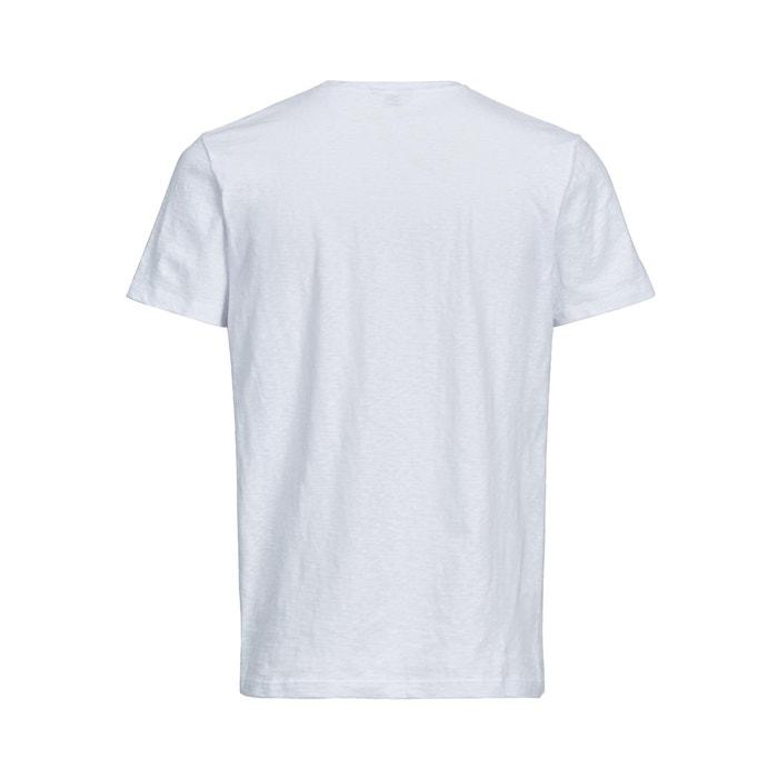 amp; JONES manga JACK cuello redondo Camiseta con corta awn5qf