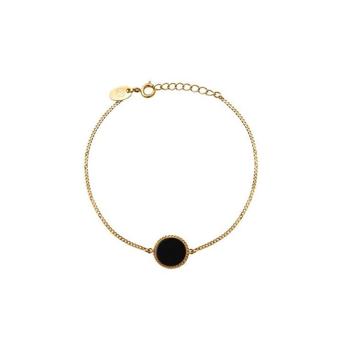 Bracelet doré onyx lady noir Caroline Najman | La Redoute Paiement De Visa En Ligne Prix de Vente Moins Cher Acheter Pas Cher Le Plus Récent Livraison Gratuite Eastbay bDMzz1