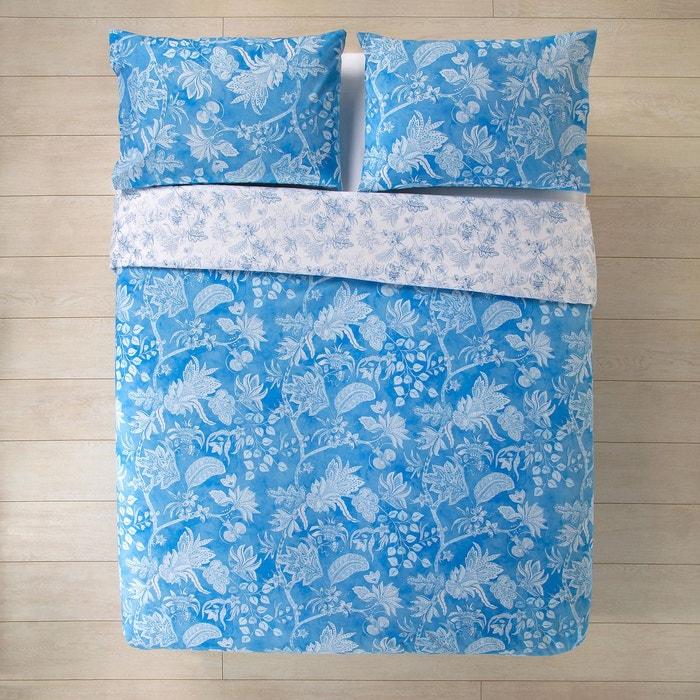 parure housse de couette en coton repassage facile dunia bleu el corte ingles la redoute. Black Bedroom Furniture Sets. Home Design Ideas