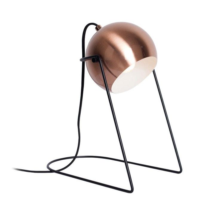 lampe de chevet orientable scoop cuivr e et noire en m tal cuivre noir keria la redoute. Black Bedroom Furniture Sets. Home Design Ideas