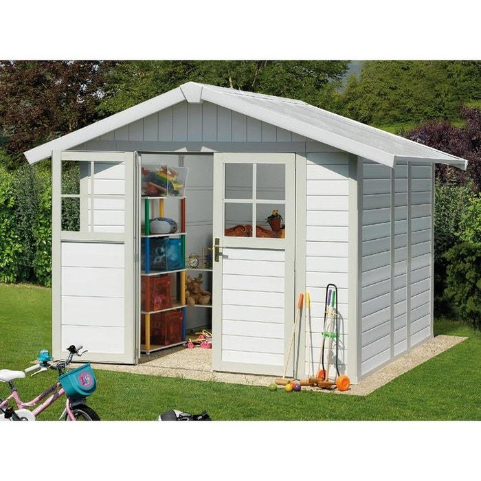 abri jardin deco 4 9 4 90 m x x m 26mm blanc habitat et jardin la redoute. Black Bedroom Furniture Sets. Home Design Ideas