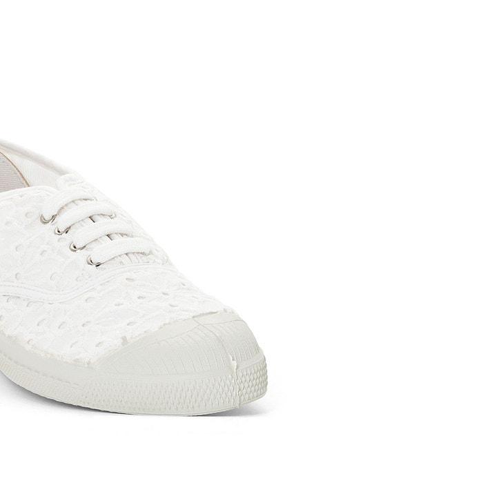 Baskets broderie anglaises blanc Bensimon