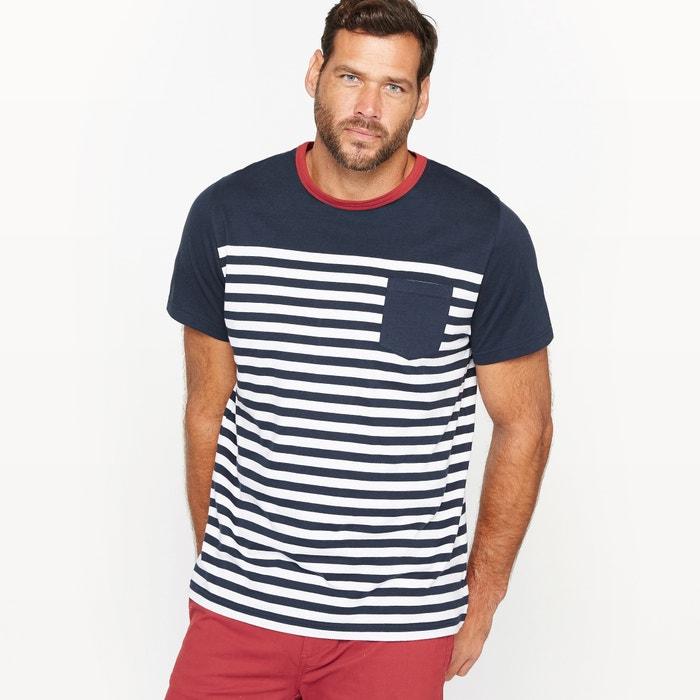 Image T-shirt w paski, kieszonka na piersi CASTALUNA FOR MEN