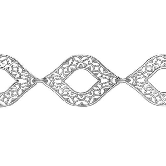 Bracelet 18,5 cm maille ovales motif filigrane argent 925 couleur unique So Chic Bijoux | La Redoute