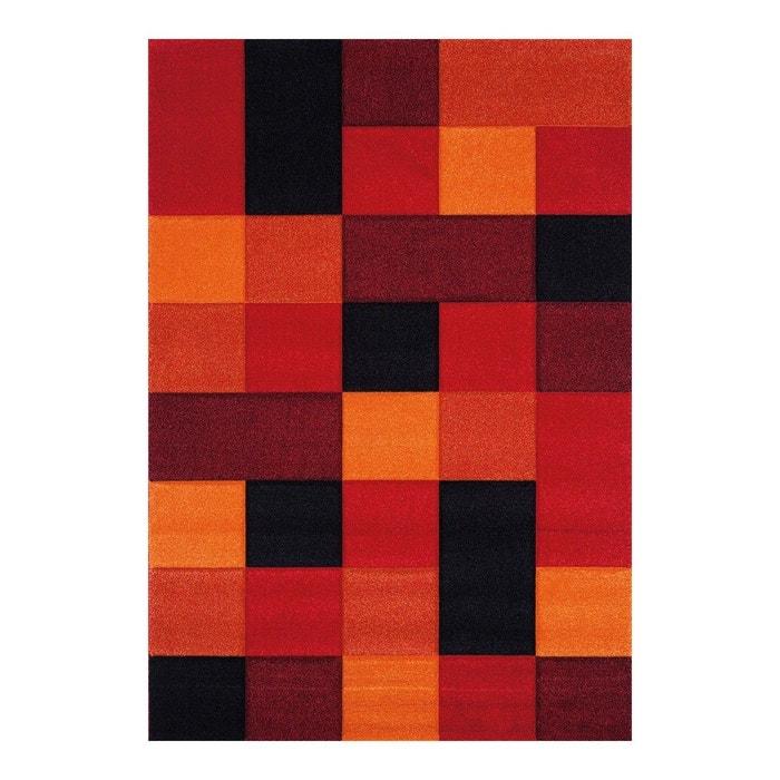 tapis courtes mches pour salon rouge eden allotapis image 0 - Tapis De Salon Rouge