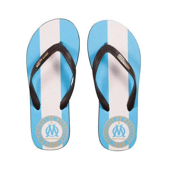 Tongs om fan droit au but bleu/blanc bleu Made In Sport