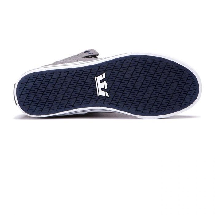 Chaussures vaider grey-white gris Supra