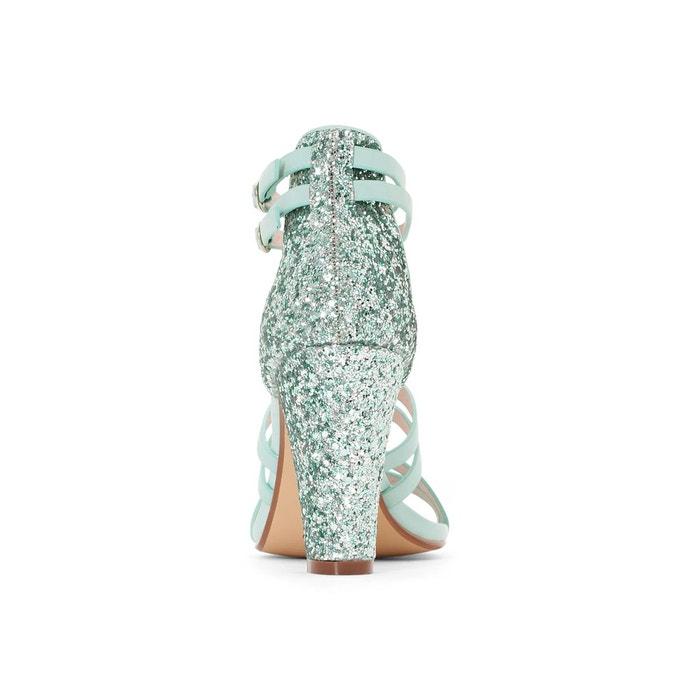 Sandales synthétique vert eau Mademoiselle R