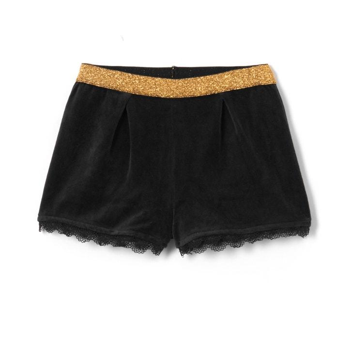 Imagen de Short con detalle de encaje, cintura brillante, 3-12 años La Redoute Collections