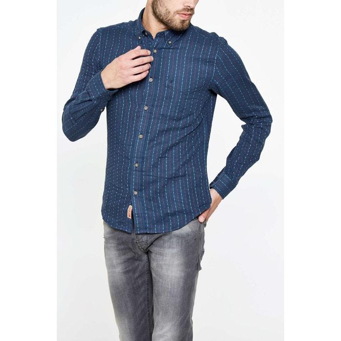 chemise wrangler button down bleu homme bleu wrangler la redoute. Black Bedroom Furniture Sets. Home Design Ideas