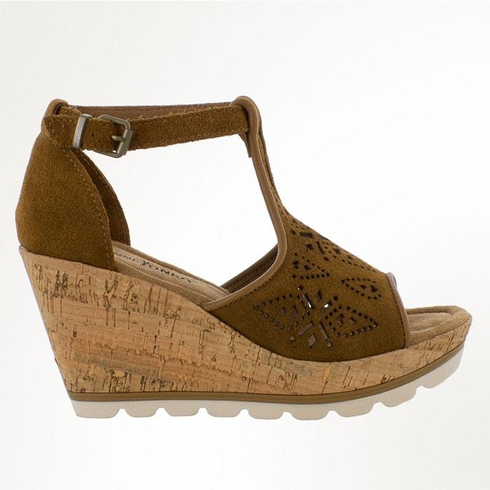 Sandales cuir camel Minnetonka