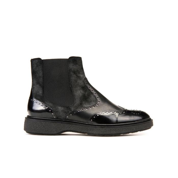 Chealsa boots prestyn noir Geox Nouvelle Arrivée À La Vente Meilleur Achat Expédition Grande Vente Libre Best-seller Parcourir La Vente XUBWAsPCYN