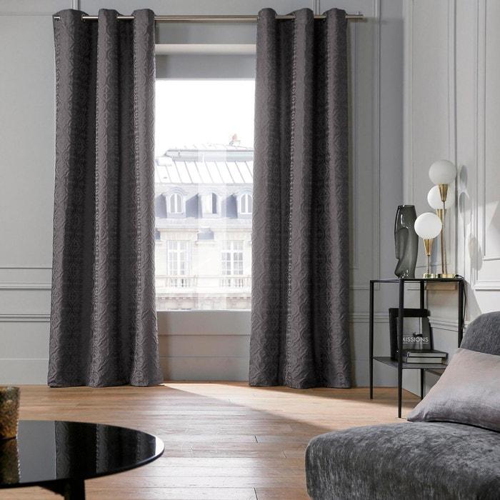rideau oeillets polyester castel gris fonc gris fonc madura la redoute. Black Bedroom Furniture Sets. Home Design Ideas