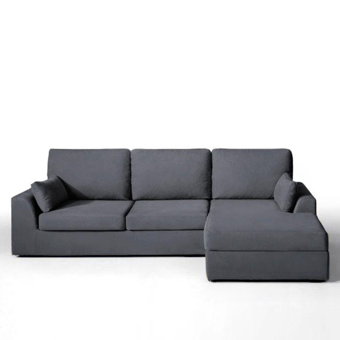afbeelding Hoekcanapé, vast model, superieur comfort, half gevlochten katoen, Madison La Redoute Interieurs