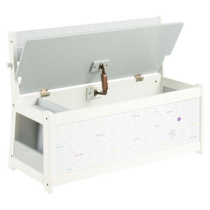 banc coffre jouets mixte gris atmosphera la redoute. Black Bedroom Furniture Sets. Home Design Ideas