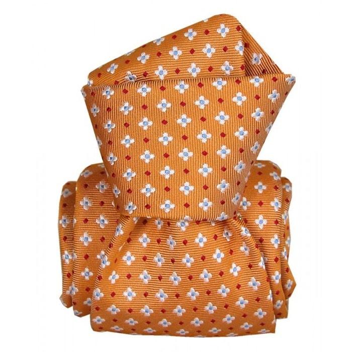 Cravate segni disegni luxe, faite main, seville orange orange Segni Et Disegni | La Redoute