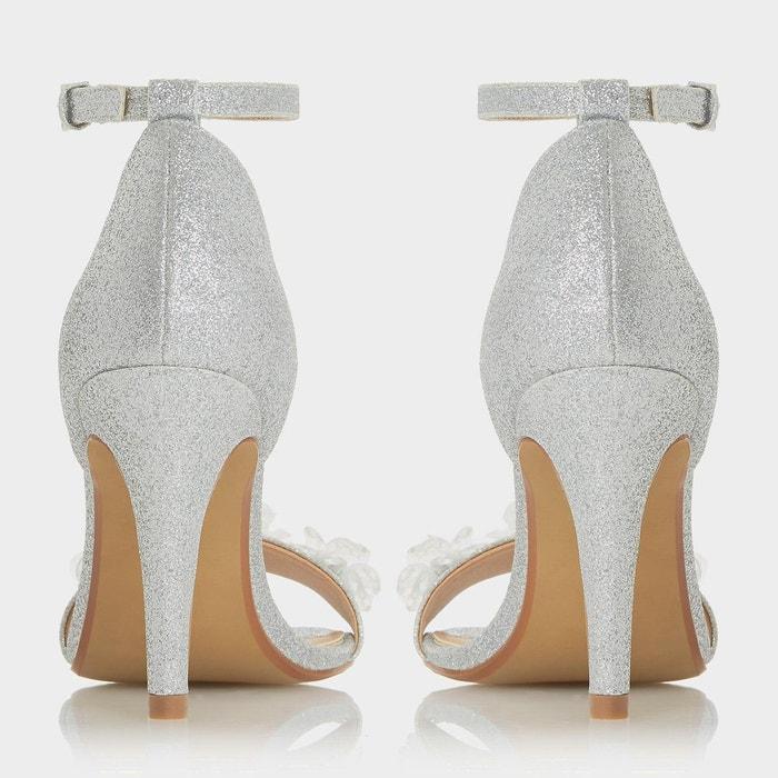 Sandales à talons aiguilles métallisées et fleurs - muse Head Over Heels By Dune