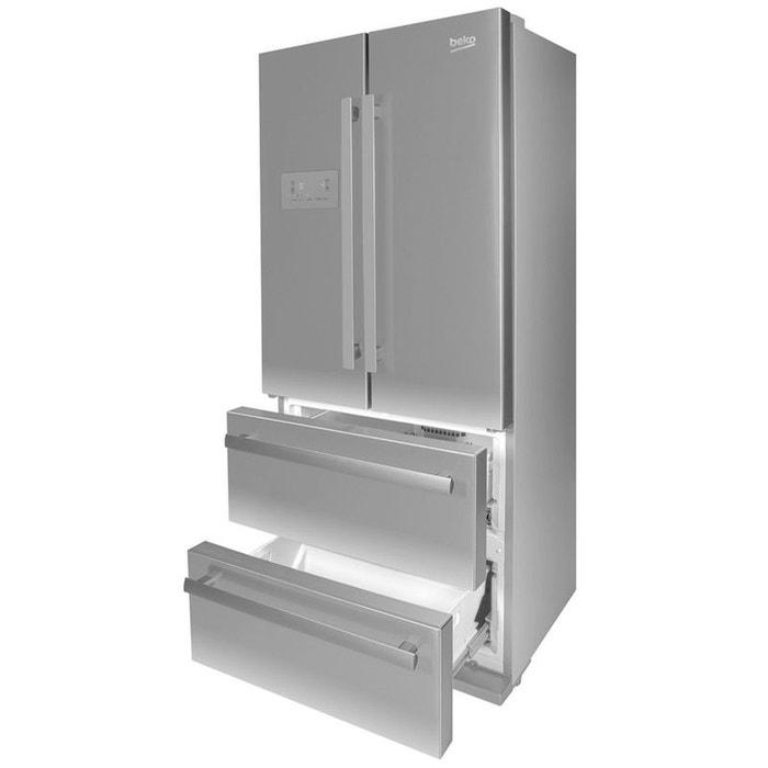 Réfrigérateur Multi Portes Beko Gnex Inox Antitraces Beko La - Réfrigérateur multi portes