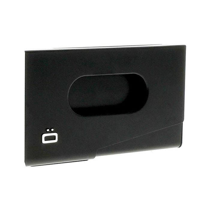 Porte Carte De Visite Alu Noir Ogon Design One Touch Made In France
