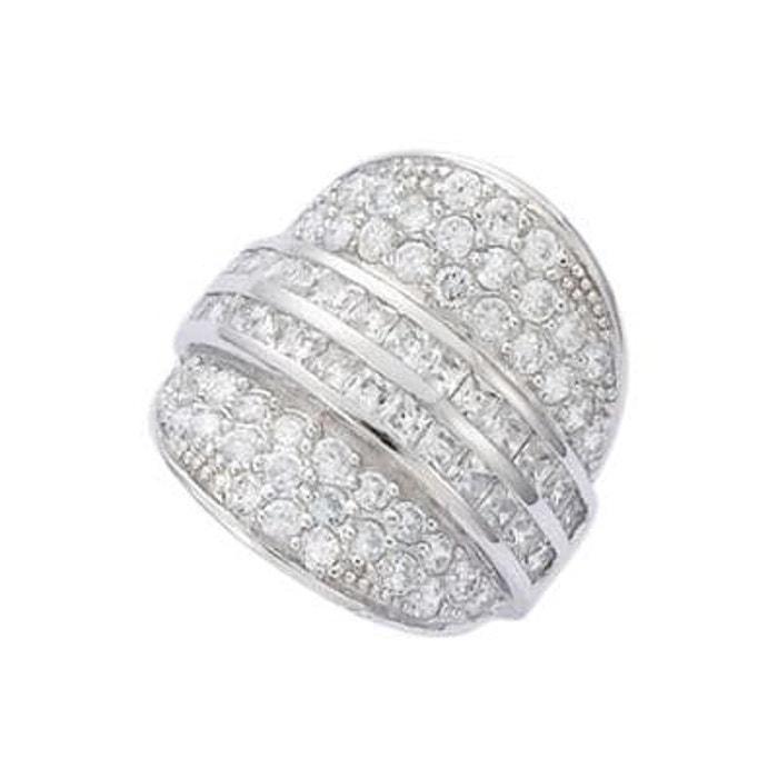 Bague anneau luxe bouclier pavage oxyde de zirconium argent 925 couleur unique So Chic Bijoux | La Redoute Dédouanement Prix Pas Cher KaWvT