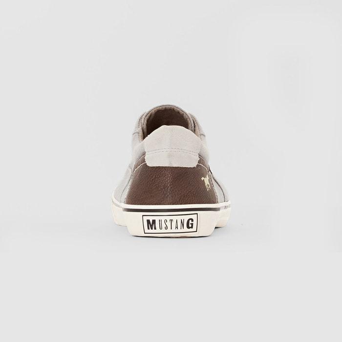 Baskets basses en toile à lacets Mustang Shoes