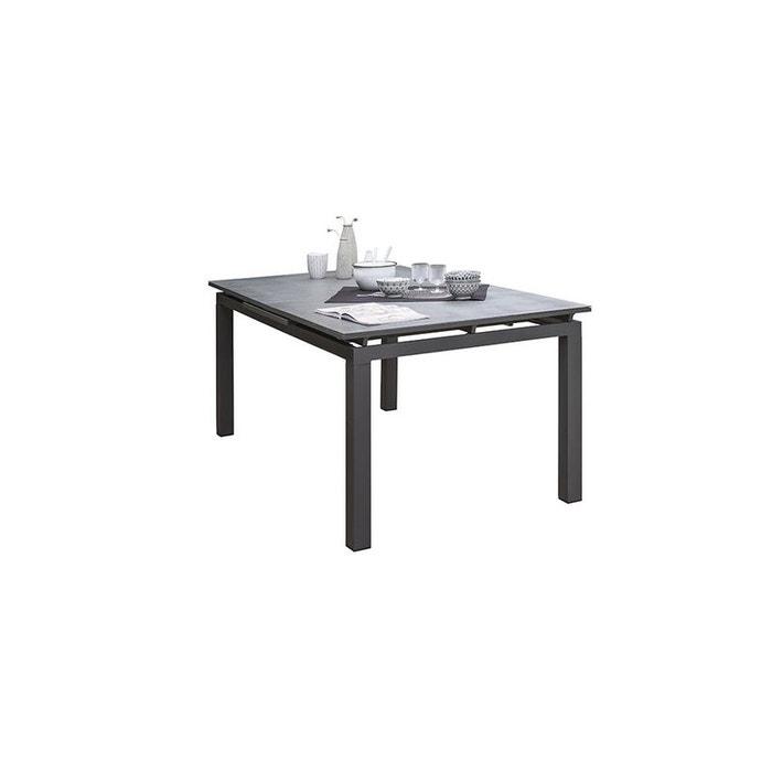 Table MIAMI-STONE 180/240X100 cm avec rallonge automatique, en verre SPRAY  STONE et aluminium