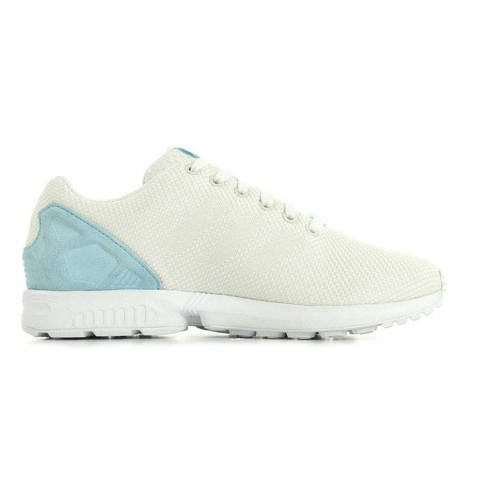 Zx flux weave écru, blanc et bleu Adidas