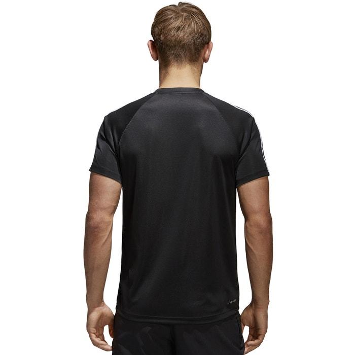 con delante ADIDAS cuello Camiseta y PERFORMANCE redondo corta de estampado manga qEw1O