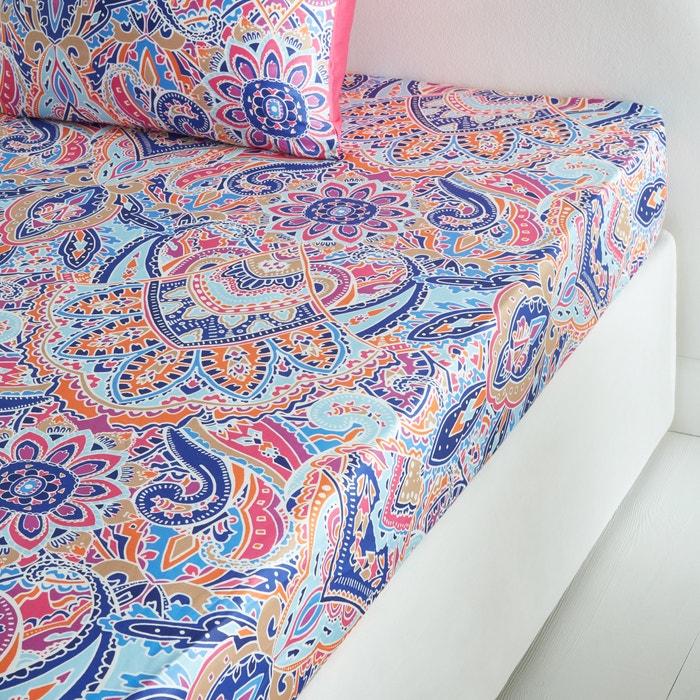 drap housse satin de coton divali la redoute interieurs la redoute. Black Bedroom Furniture Sets. Home Design Ideas