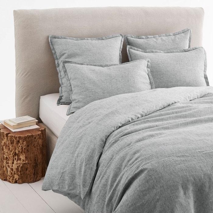 housse de couette en lin chambray ekani am pm la redoute. Black Bedroom Furniture Sets. Home Design Ideas